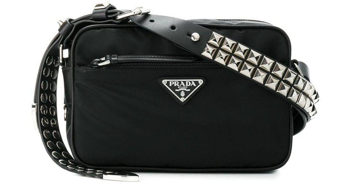 9b53707ab21e prada-Black-Black-Studded-Strap-Textile-Shoulder-Bag.jpeg