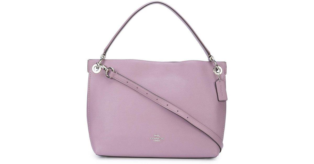 03ed5a1fd7ae Lyst - COACH Clarkson Hobo Bag in Purple