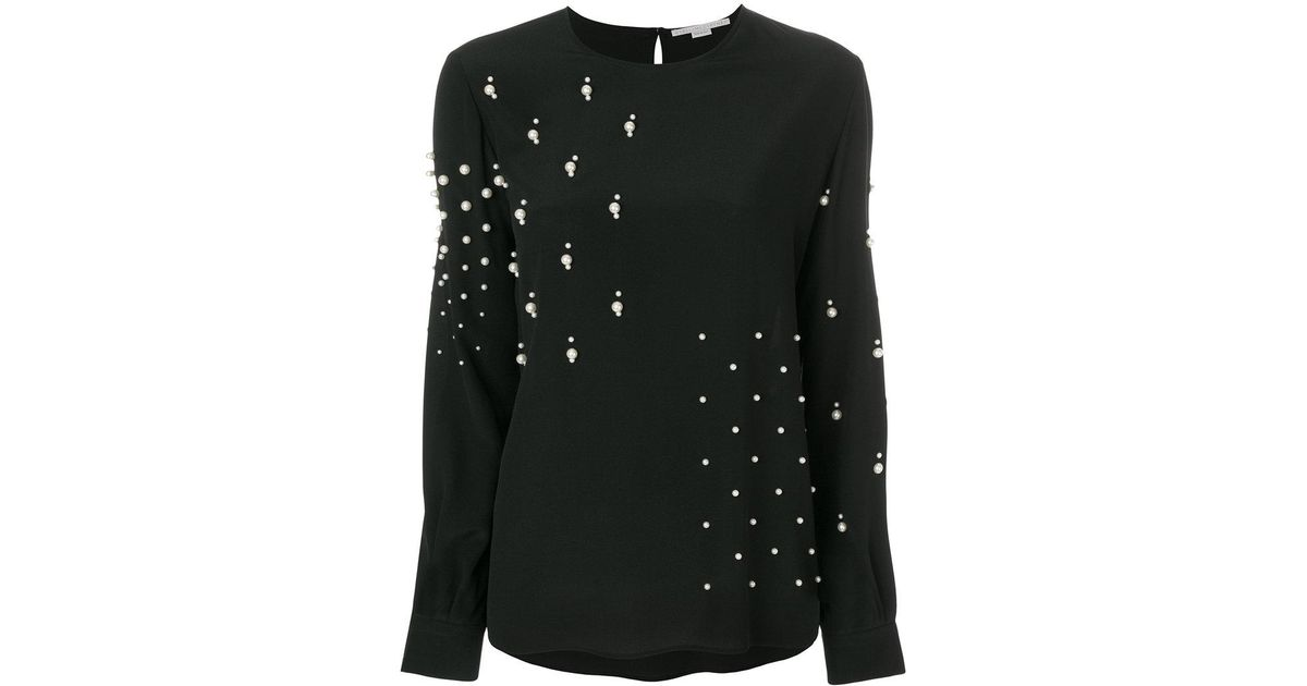 Authentic Cheap Price pearl embellished blouse - Black Stella McCartney New Styles Free Shipping Best Sale Outlet From China ZSNCWe