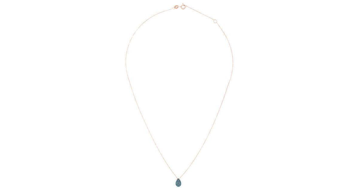 Diane Kordas black diamond teardrop necklace - Metallic R2K6U3