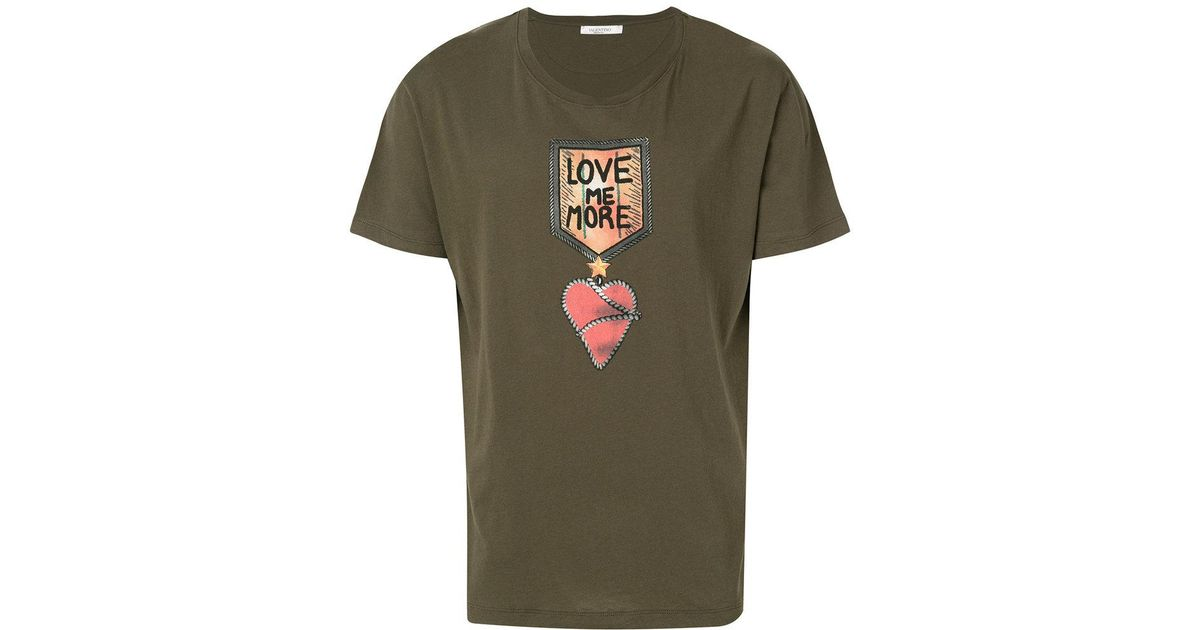 742de40f Valentino Men's Green Cotton T-shirt in Green for Men - Lyst
