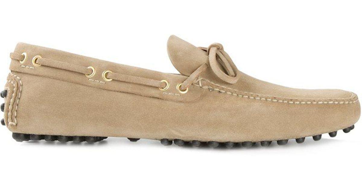 Car Shoe: Car Shoe Classic Driving Shoes In Natural For Men