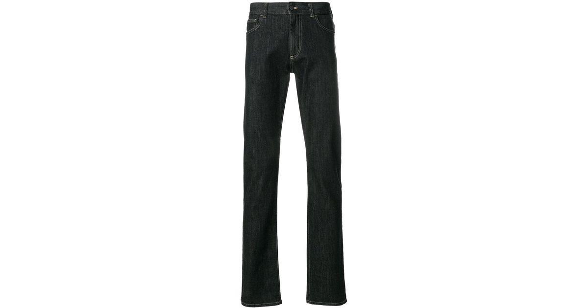 canali loose fit jeans in blue for men lyst. Black Bedroom Furniture Sets. Home Design Ideas