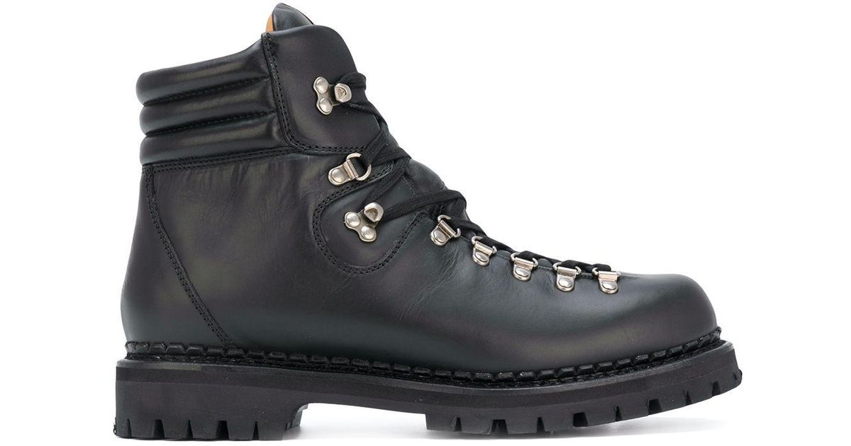 468c53539 Gucci Web Bee Hiking Boots in Black for Men - Lyst
