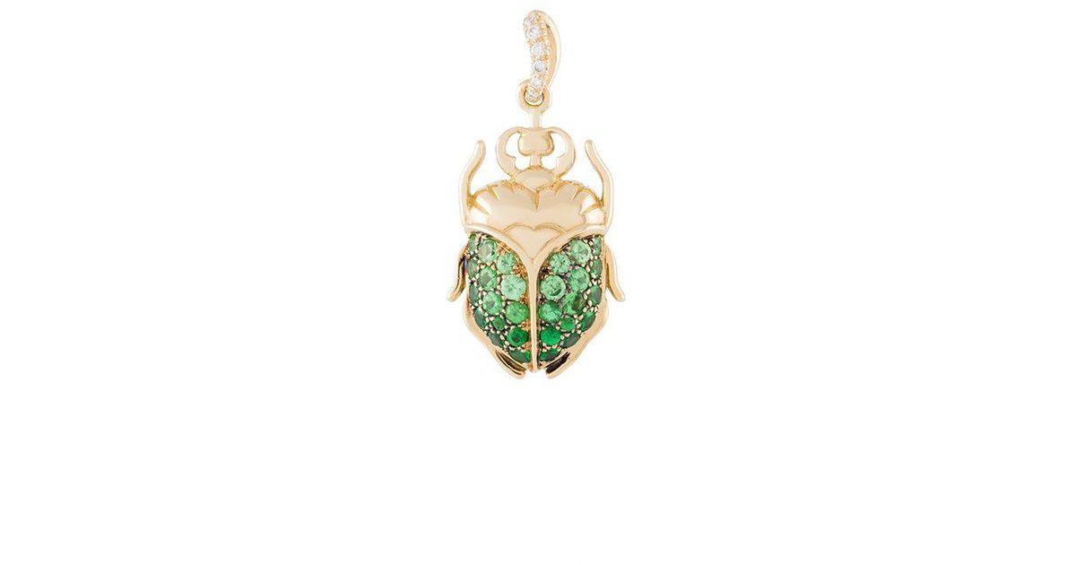 Aurélie Bidermann mini Scarab tsavorite and diamond earring - Metallic gW6W5d