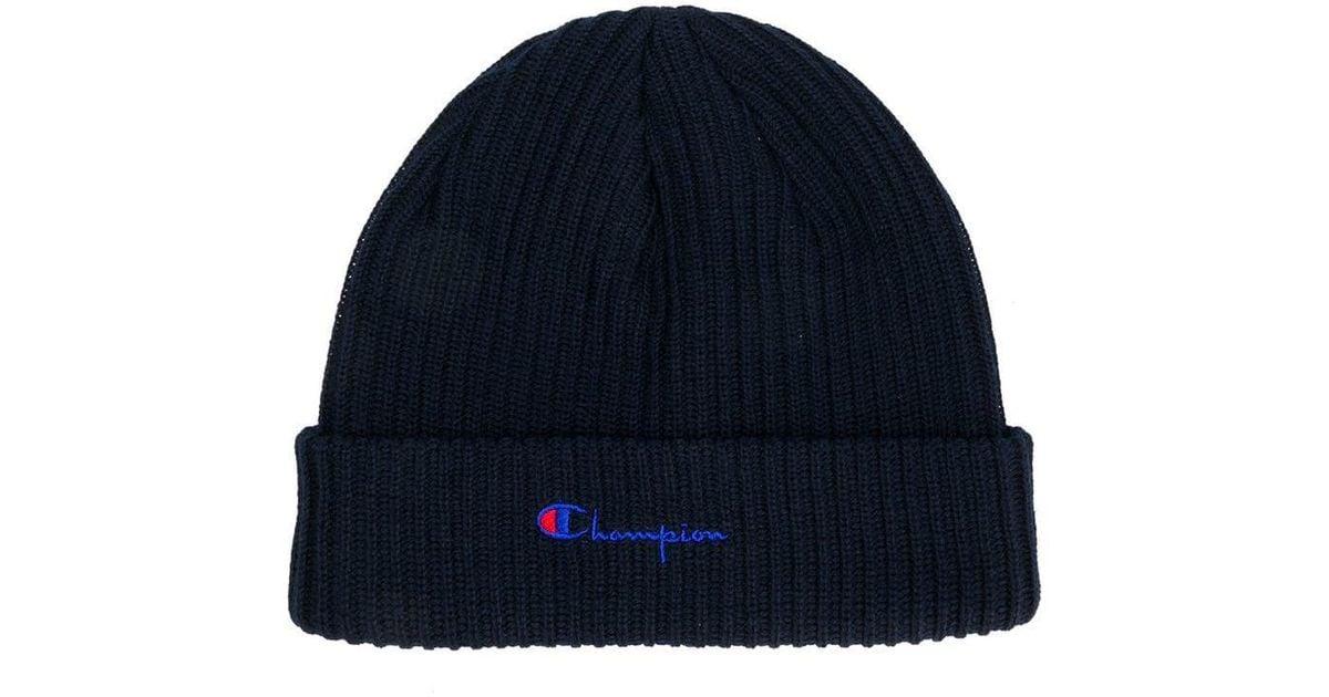 a2c088ca6 Champion - Blue Basic Beanie Hat for Men - Lyst