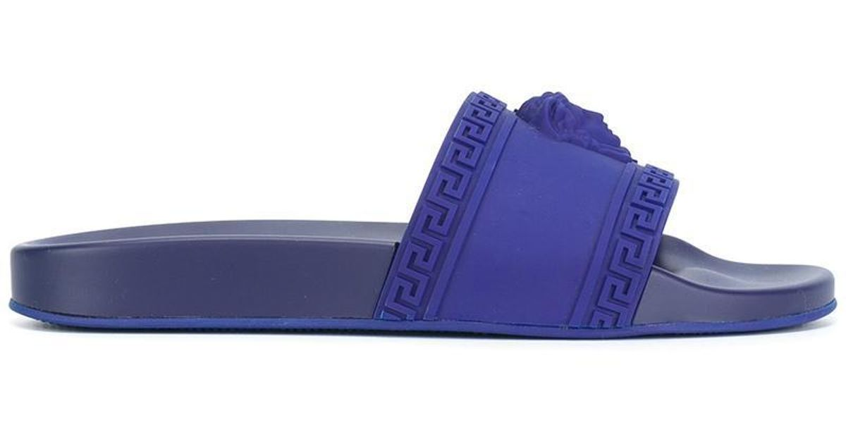 8d359d2a2d42 Lyst - Versace Medusa Pool Slides in Blue for Men