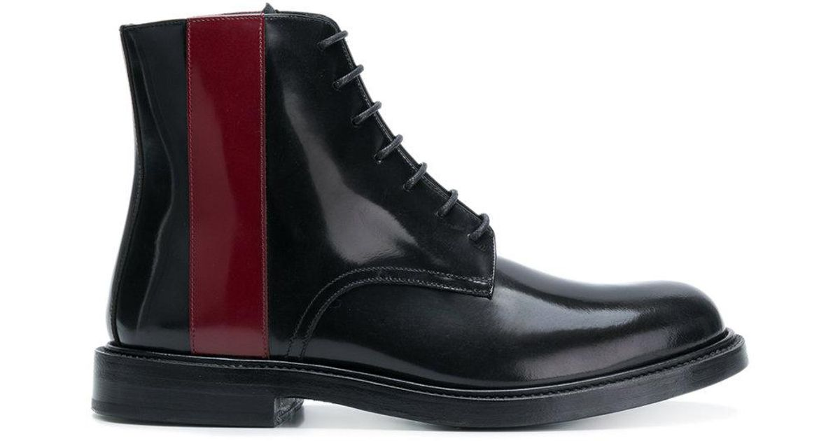 Calvin Klein 205w39nyc Contraste Bottes À Lacets - Noir U8I7FIiSa