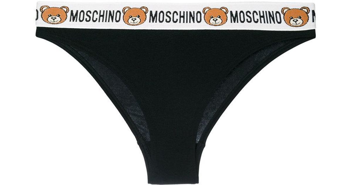 Moschino Lace logo printed briefs 8L2614f7