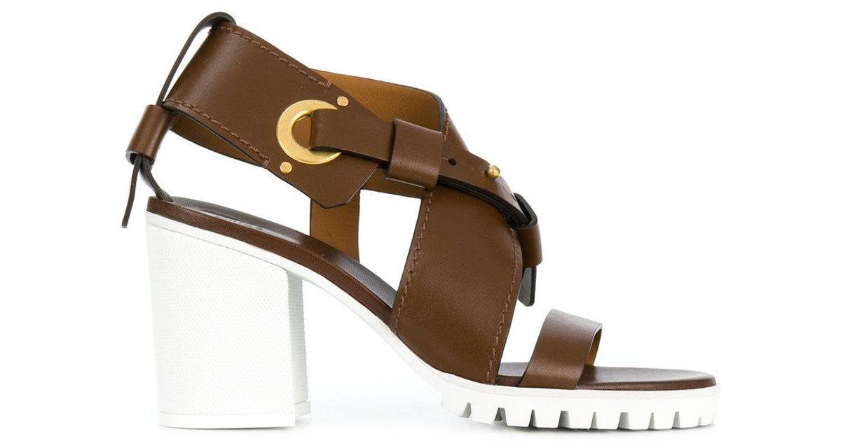 Chloé strappy chunky mid heel sandal sneakernews online 2014 newest sale online low cost for sale clearance brand new unisex T3AdKcF