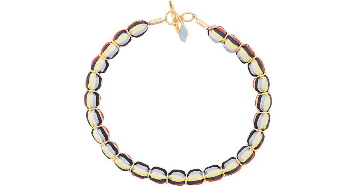 Diane Von Fürstenberg striped beaded necklace - Multicolour EQfgY06A