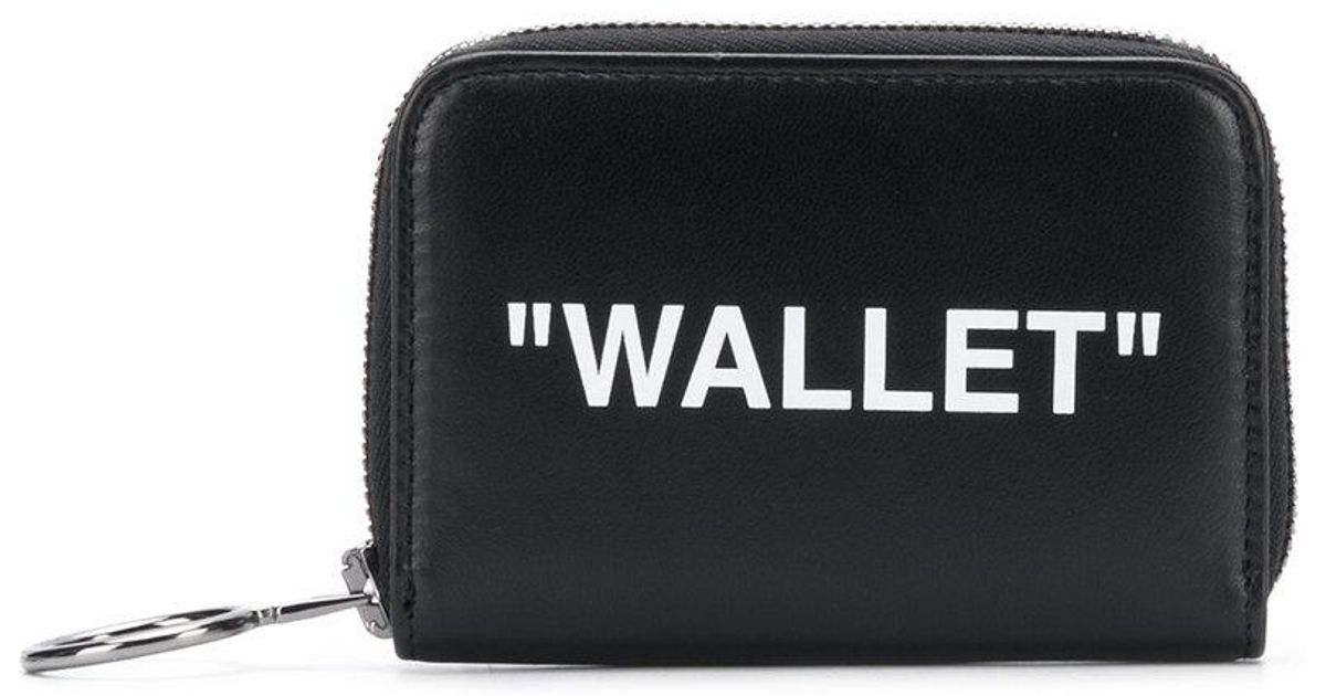 b399c5c73a0d Off-White c o Virgil Abloh. Women s Black Printed Small Zip Around Wallet
