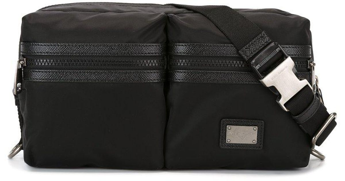 dcce7660f91e Lyst - Dolce   Gabbana Double Compartment Bumbag in Black for Men