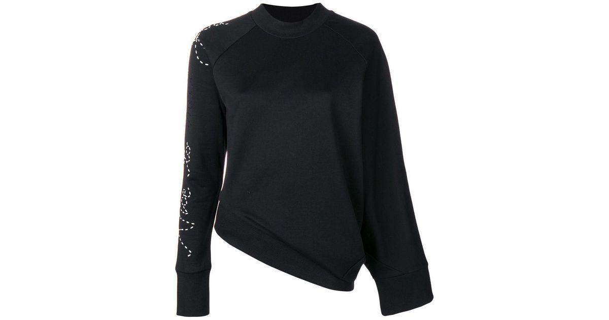 085087edf Y-3 Adidas X Yohji Yamamoto Angled Waist Slogan Sweater in Black - Lyst