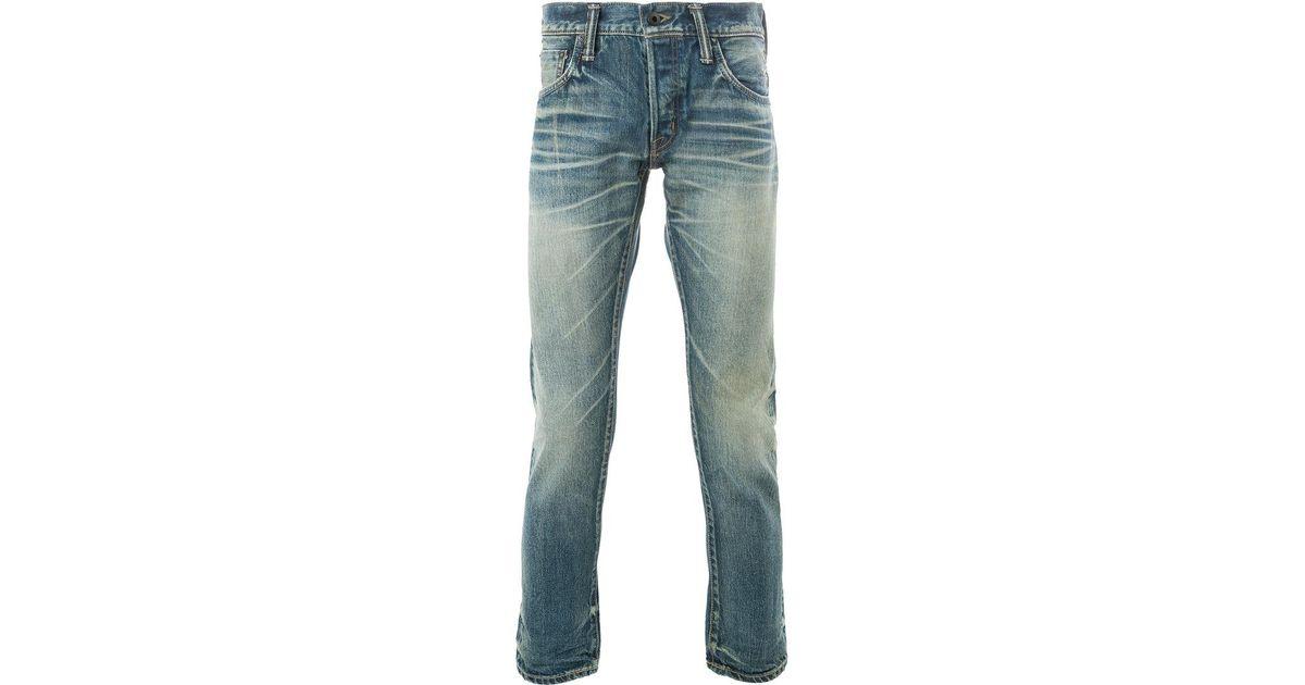 straight leg ankle length jeans - Blue Mastercraft Union 9du74hwB2