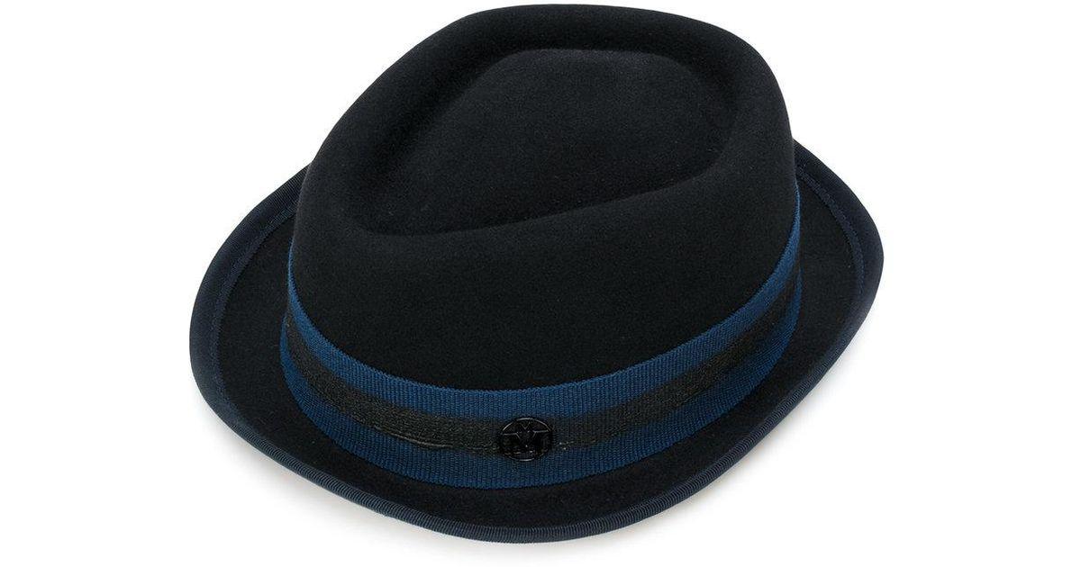 8a3bc35e5ab Lyst - Maison Michel Jac Hat in Black for Men