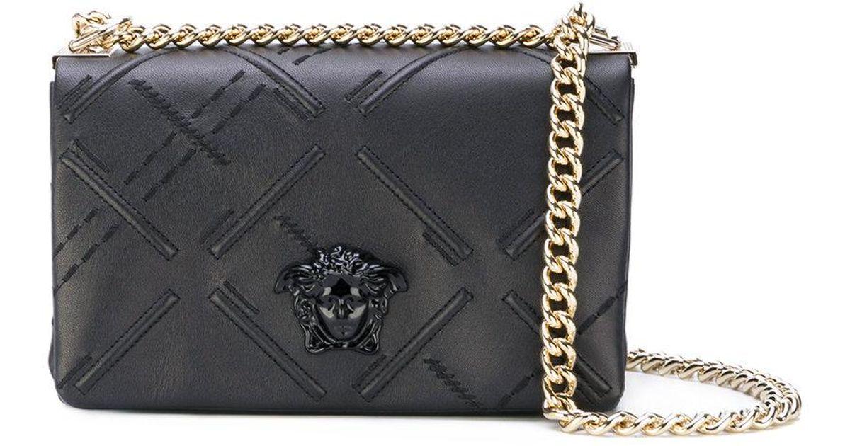 29ebf09b71f0 Lyst - Versace Palazzo Medusa Shoulder Bag in Black