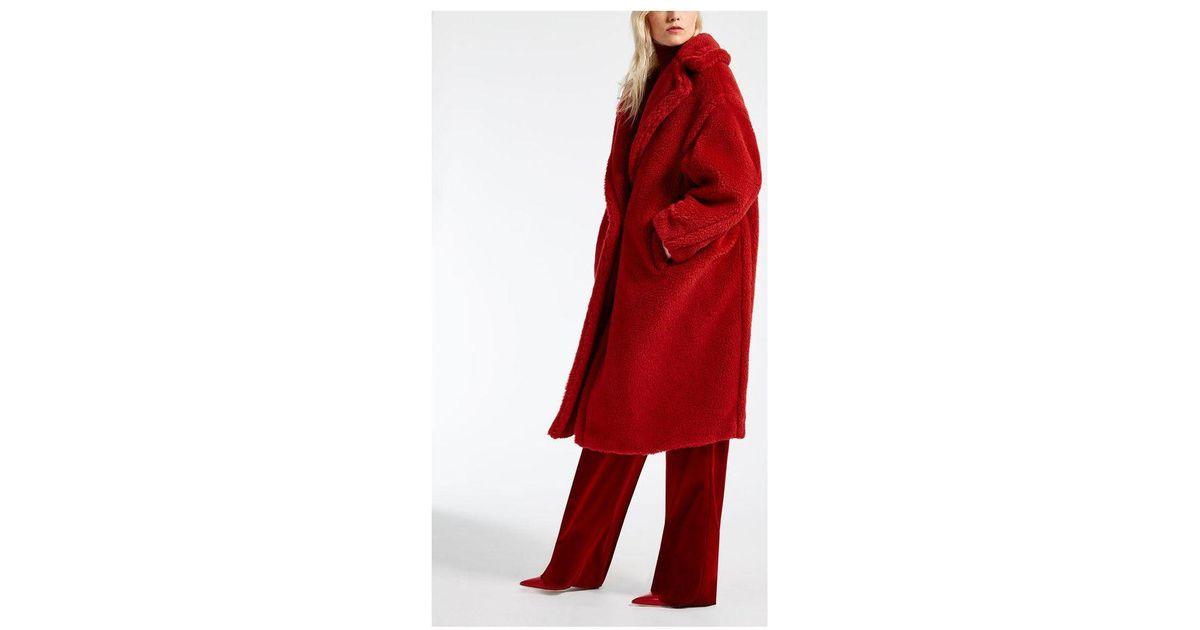 c917b80a5 Lyst - Max Mara Teddy Bear Icon Coat in Red