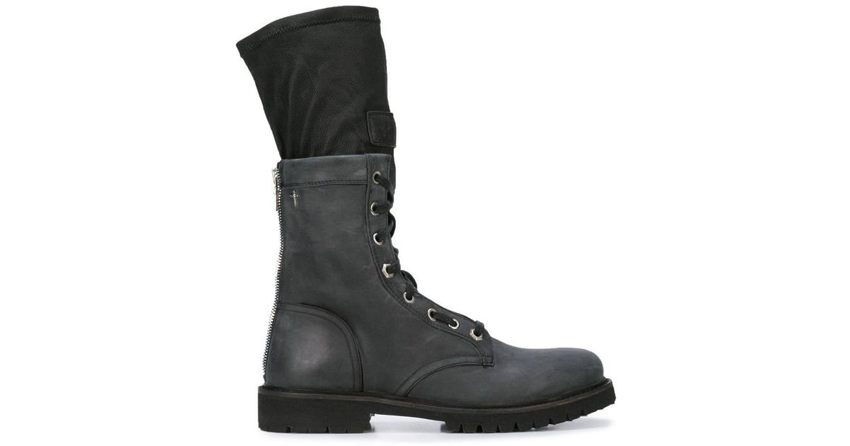 3fbe37e0a4575 Lyst - RTA Combat Sock Boots in Black - Save 50%