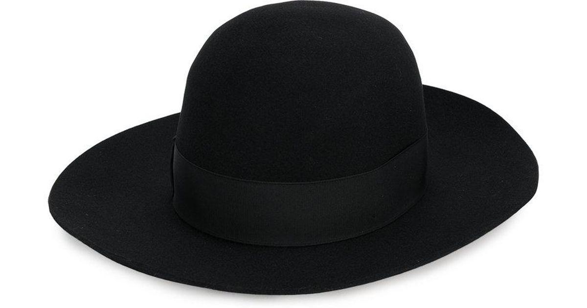 Lyst - Sombrero clásico de ala ancha Borsalino de color Negro 93af54122c9