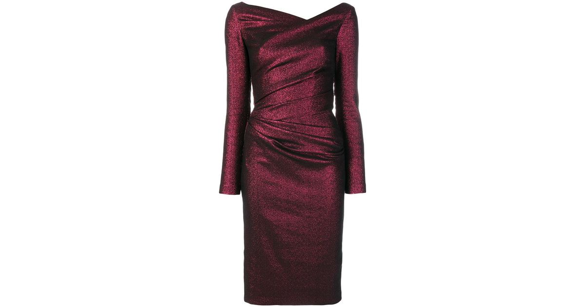 Pollex1 dress - Red Talbot Runhof VuPl9WM9