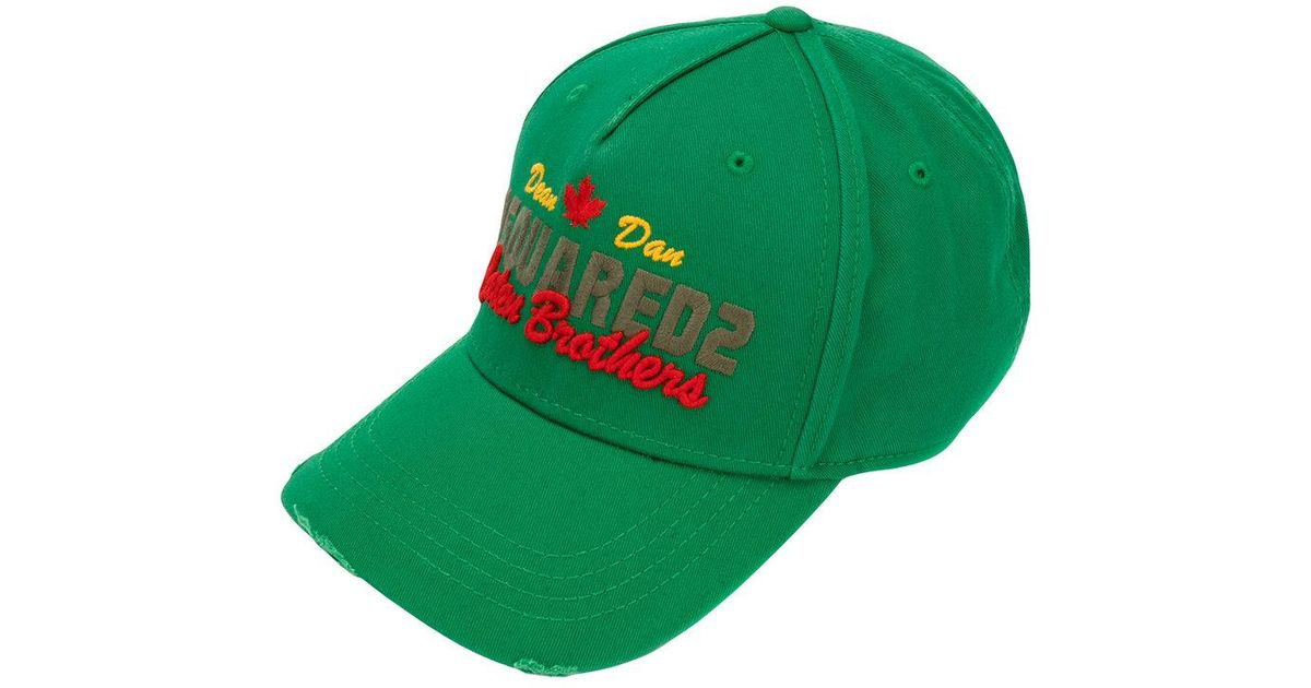 702e942b1 Dsquared² Caten Brothers Baseball Cap in Green for Men - Lyst