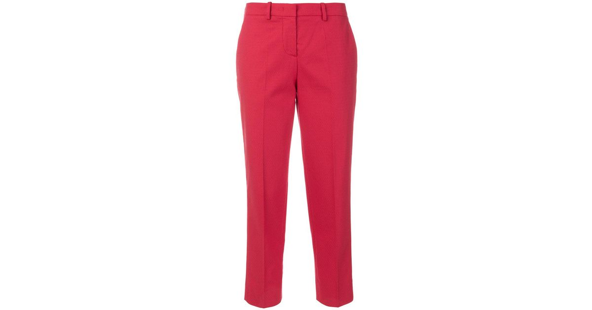 classic slim chinos - Red Love Moschino c7diLp5FH