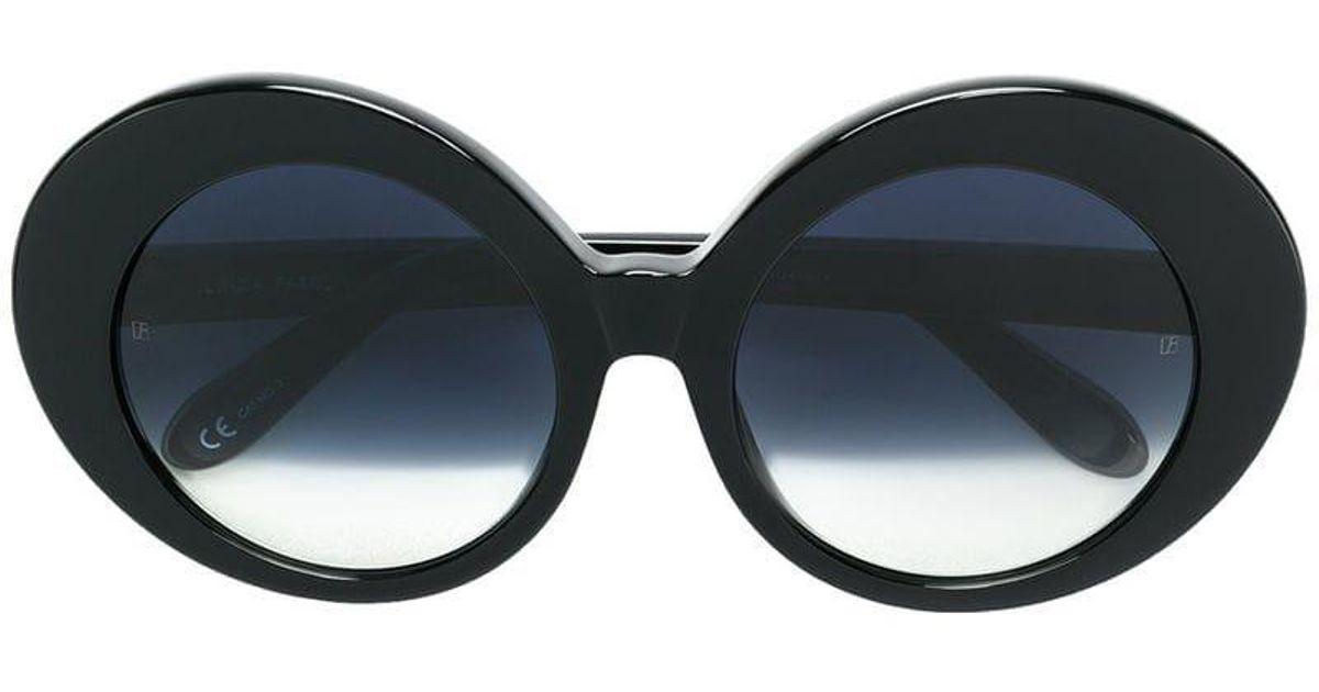 e80c7dddcfe Matthew Williamson Oversized Round Sunglasses in Black - Lyst