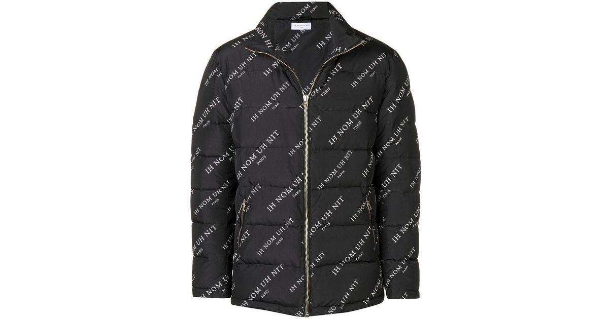 In Printed Men Nom Nit Black Jacket Logo For Ih Lyst Padded Uh qaSx0