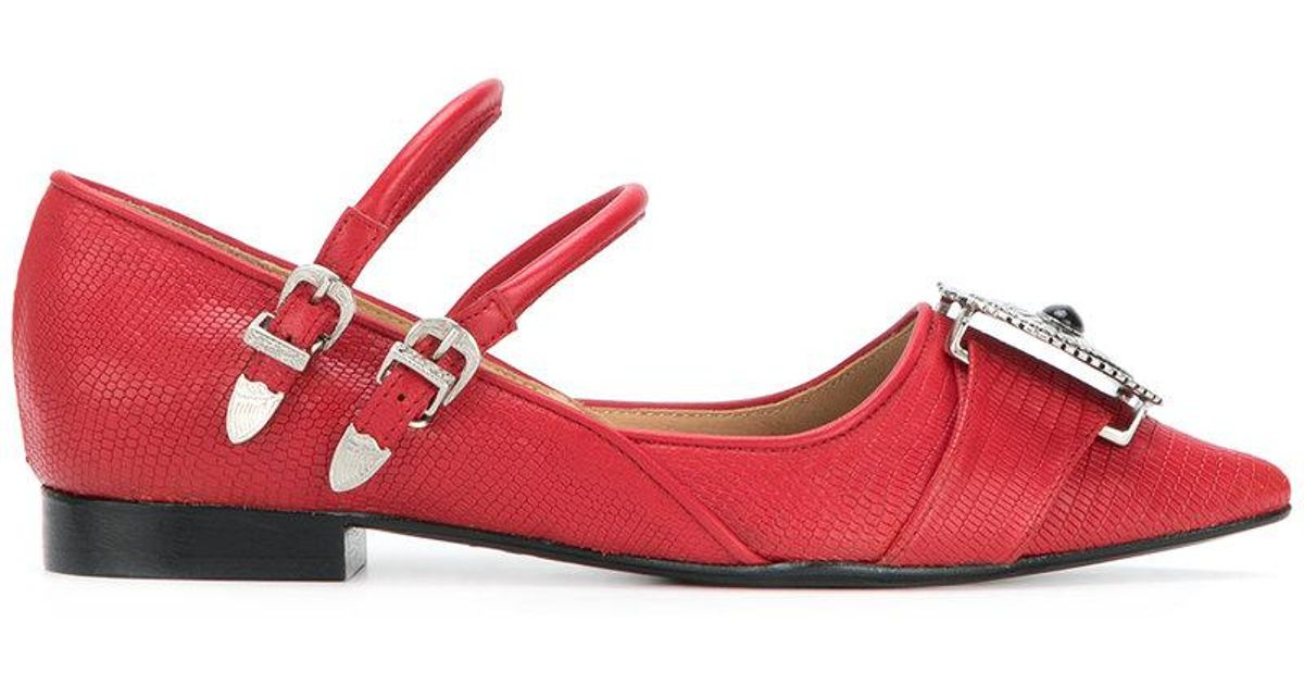 reputable site 1d248 bc277 toga-pulla-Red-Embellished-Point-toe-Ballerina-Shoes.jpeg