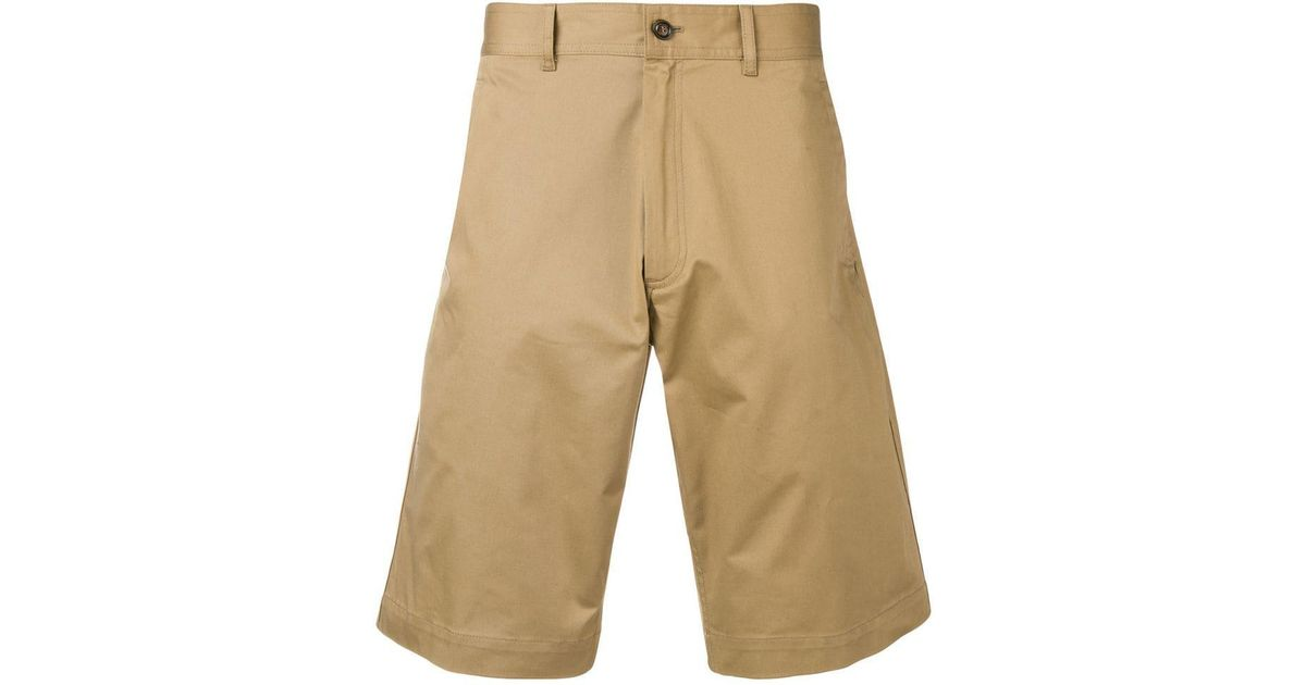 bad88fffe Moncler Classic Chino Shorts in Natural for Men - Lyst