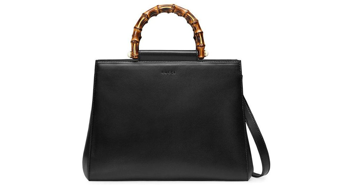 41eaa1ba7200 Lyst - Sac à main Nymphaea en cuir Gucci en coloris Noir