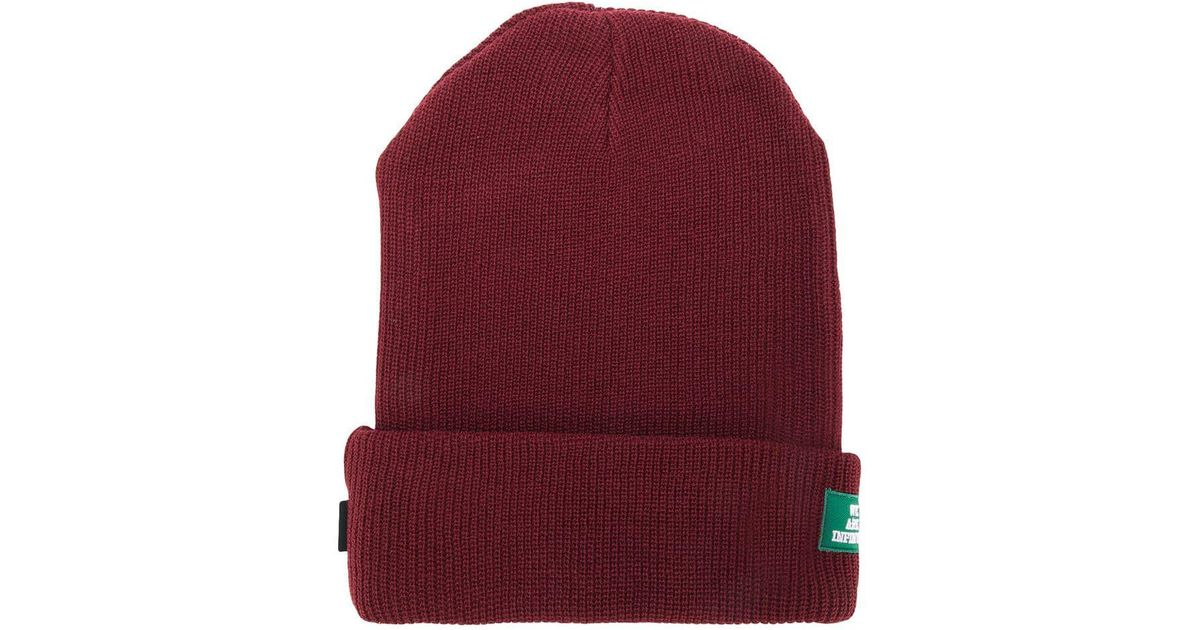 b7b34fd3389 Undercover Stretch-knit Beanie in Red - Lyst