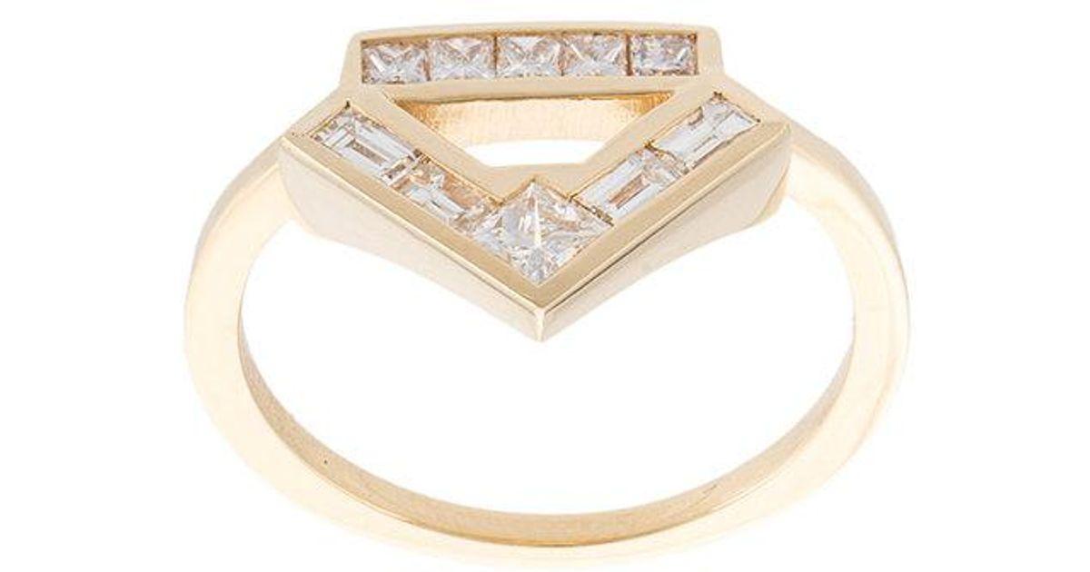 Azlee Glow diamond ring - Yellow & Orange GRwaooG