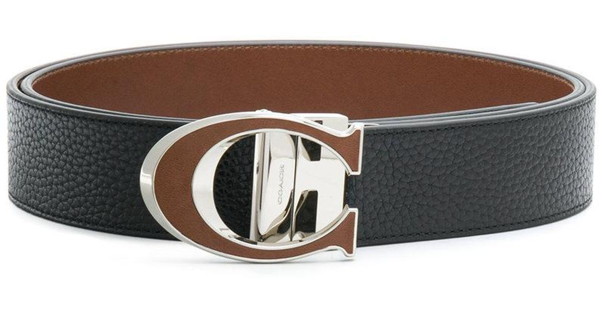 60da8530f047 Lyst - COACH C Buckle Reversible Belt in Black for Men
