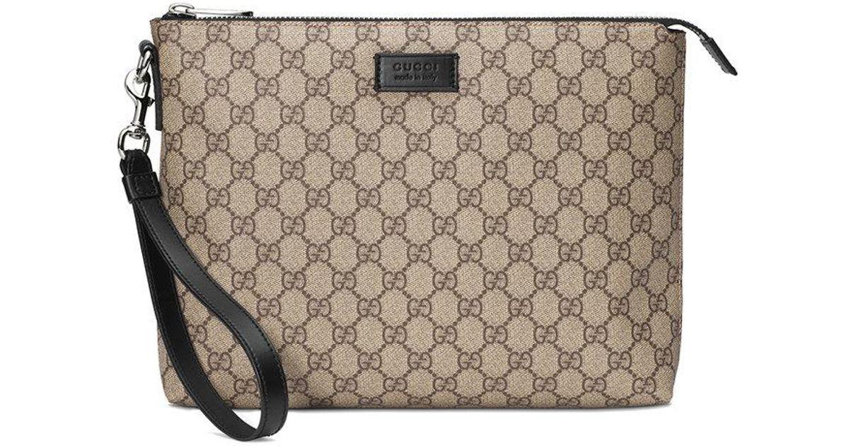 b99a920710f Gucci Gg Supreme Men s Bag in Natural for Men - Lyst