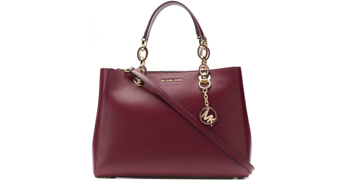 a474c4dc8304 MICHAEL Michael Kors Cynthia Small Satchel in Red - Lyst