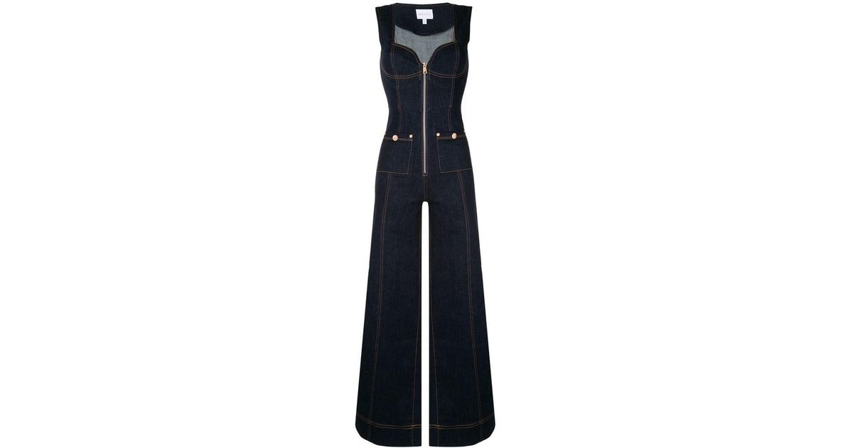 17f1fb2ab3de Lyst - Alice McCALL Bloomsbury Denim Jumpsuit in Blue