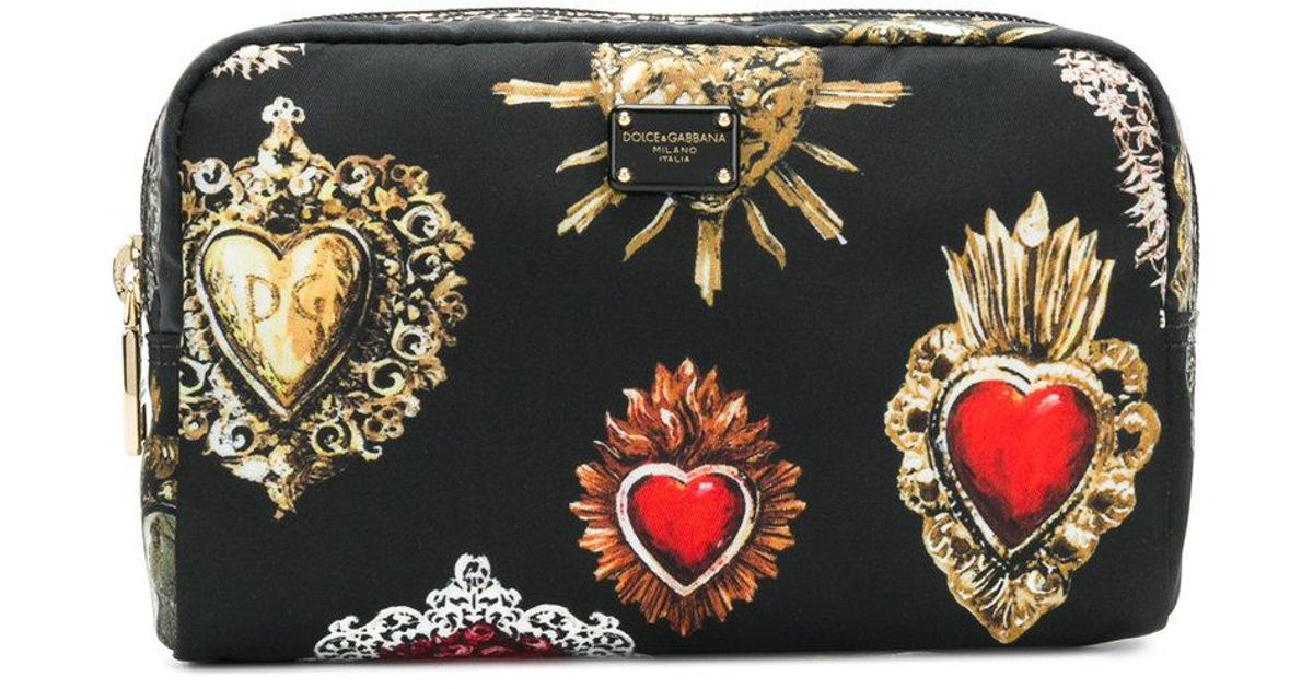 Sale Pick A Best Official Cheap Price Sacred Heart printed pouch - Black Dolce & Gabbana Buy Cheap Original tR0NvZOMk