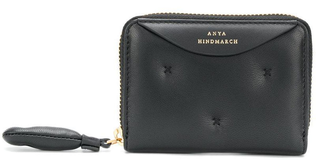 Chubby small zip around wallet - Black Anya Hindmarch Ct6kyNA7tr