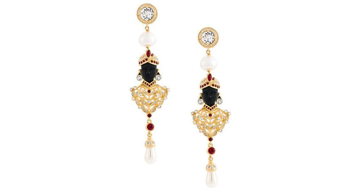 Alberta Ferretti stoned earrings - Metallic b3KyVTJEI