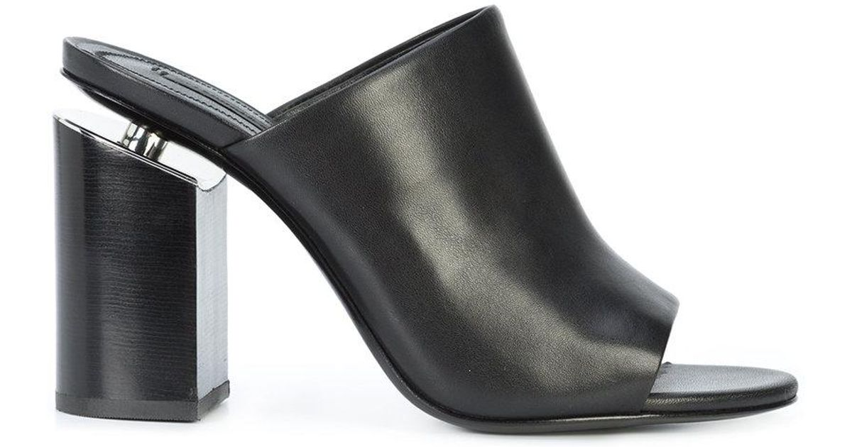 Lyst Alexander Wang Avery High Heel Mules In Black