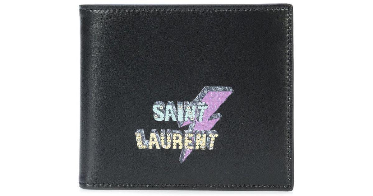 1d780d58f44 Saint Laurent Eclair East/west Wallet in Black for Men - Lyst