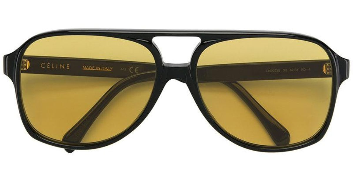 74ebdba44a2 Céline Aviator Sunglasses in Black - Lyst