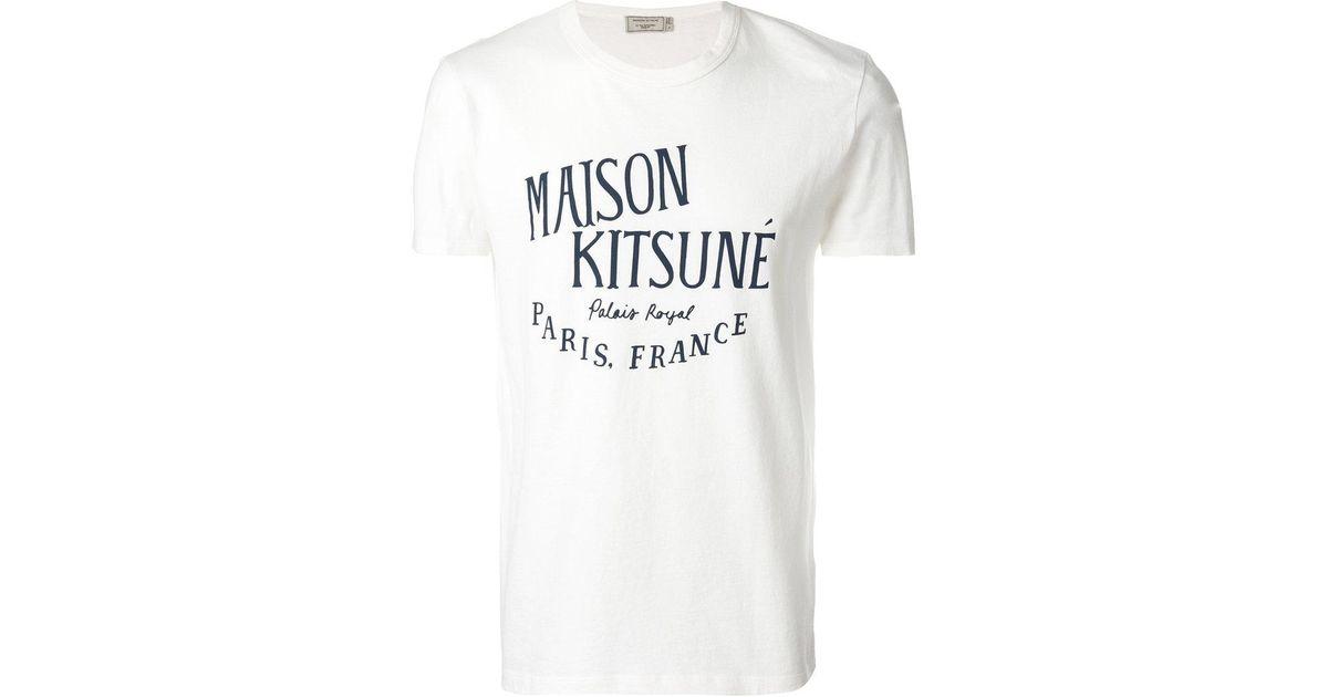 Maison Kitsuné Stitch logo print T-shirt iGOkbJlDS
