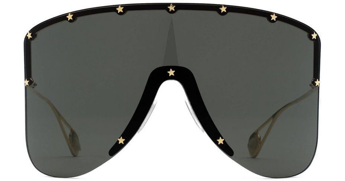 5f9bc19d6f Gucci Mask Sunglasses With Star Rivets in Gray - Lyst