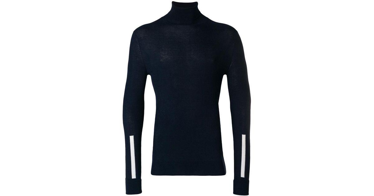 stripe detail turtleneck sweater - Blue Neil Barrett Free Shipping Best Choice Online Buy Cheap Largest Supplier Factory Outlet Best Selling p5SMNe2KN