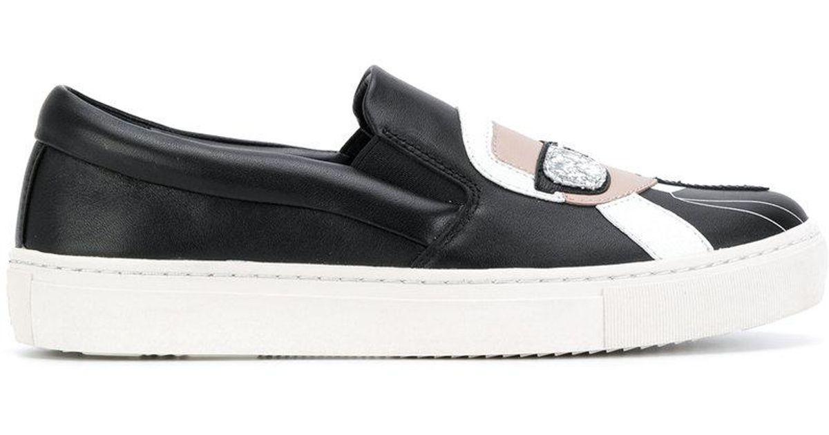 903790e530d Karl Lagerfeld Kupsole Karl Ikonic Sneakers in Black - Lyst