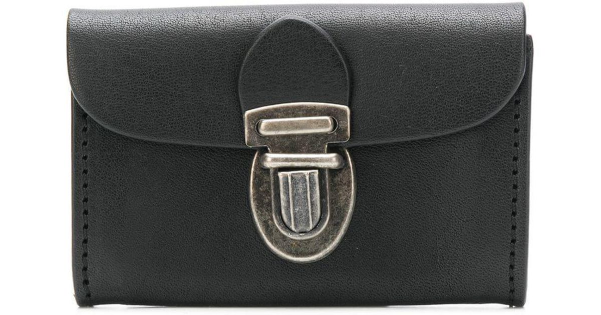 Lyst - Ann Demeulemeester Push-lock Purse in Black fe52758deca8