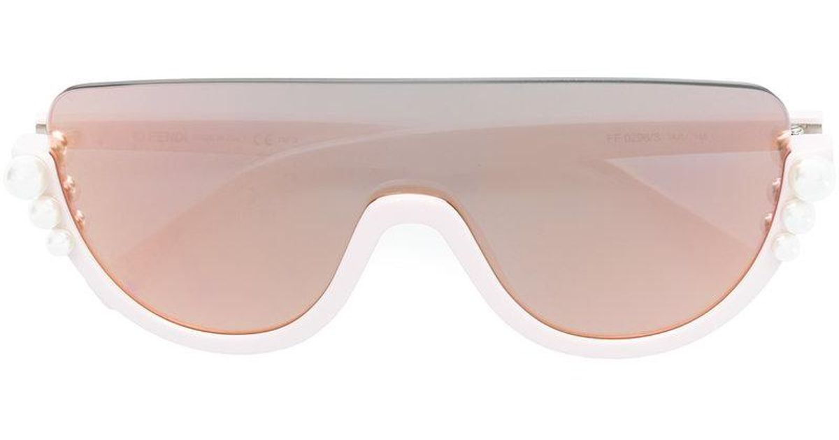 ca44db5d698 Fendi Ribbons And Pearls Sunglasses in Pink - Lyst